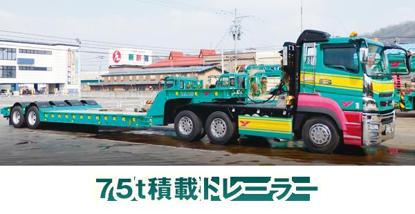 75t積載トレーラー