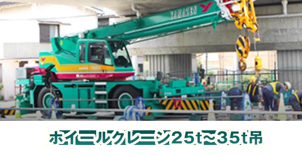 ホイールクレーン25t~35t